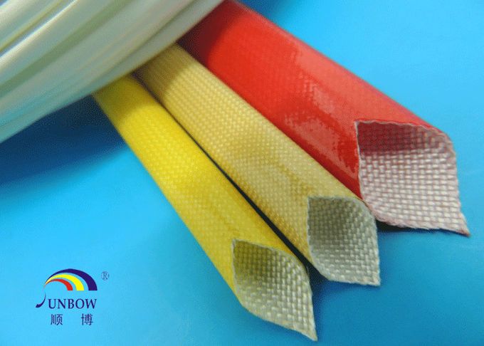 SUNBOW RoHS 155C F Dielectric Insulation PU Fiberglass Sleeving for Motors